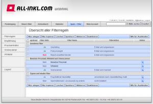 all-inkl Filter Übersicht